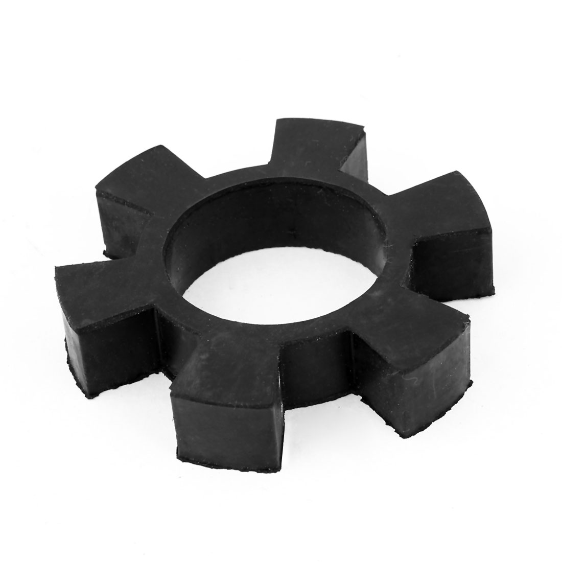"Black 6 Petal Design 3.1"" OD Rubber Shaft Coupler Damper Shock Absorber"