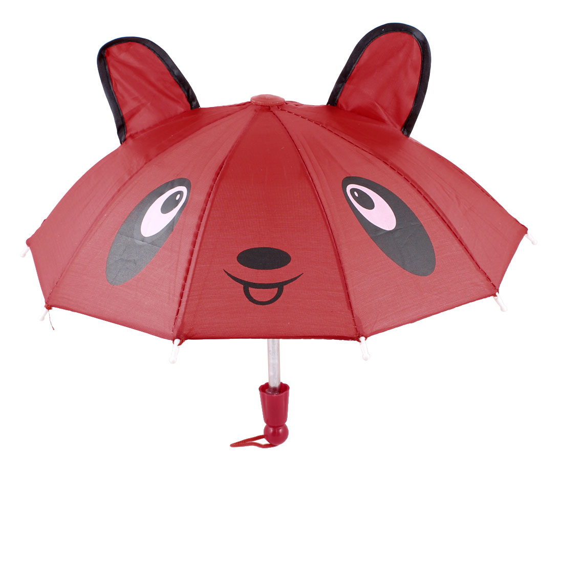 Bear Ears Decor True Red Mini Animal Umbrella Toy for Children Kids