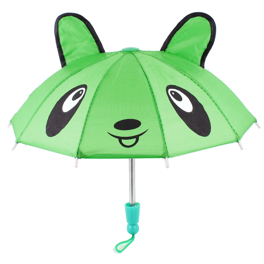Bear Head Printed Green Mini Animal Umbrella Toy for