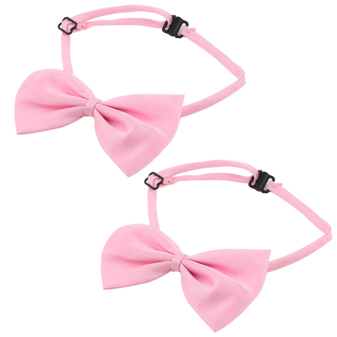 2 Pieces Pink Adjustable Dog Pet Puppy Grooming Necktie Bowtie