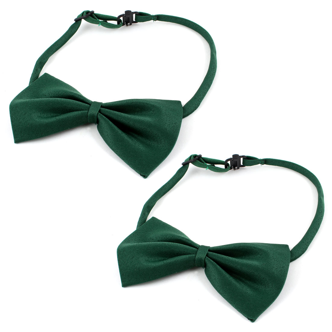 Dog Cat Pet adjustable Bowtie Collar Accessory Bow Tie Necktie Green 2 Pieces