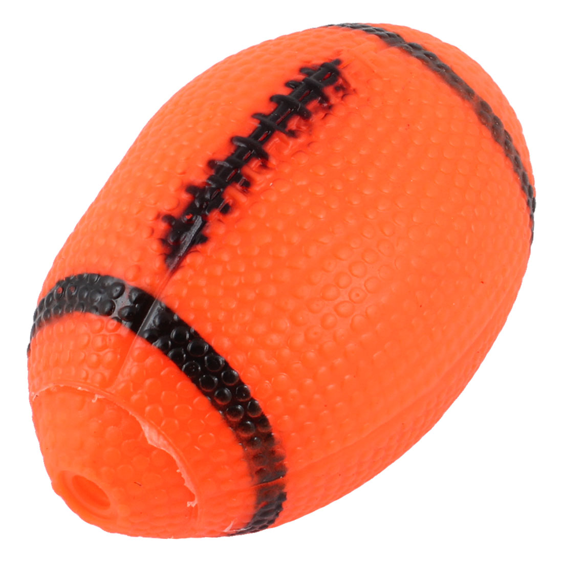American Football Design Orange Red Bumpy Squeaking Pet Puppy Toy Ball