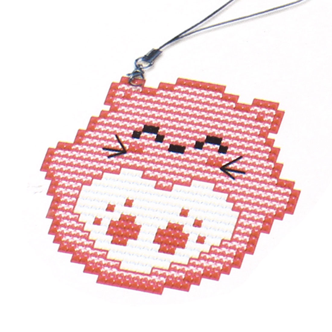 Woman Counted Pink Smiling Mouse Handbag Pendant Cross Stitch Counted Kit Set