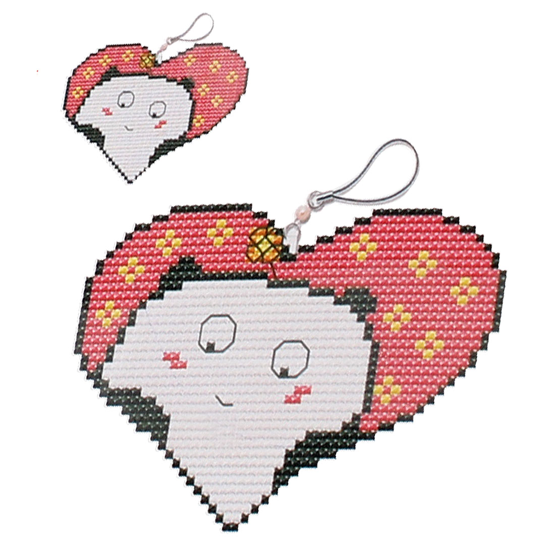 Colorful Heart Printed Handbag Pendant Counted Cross Stitch Counted Kit Set