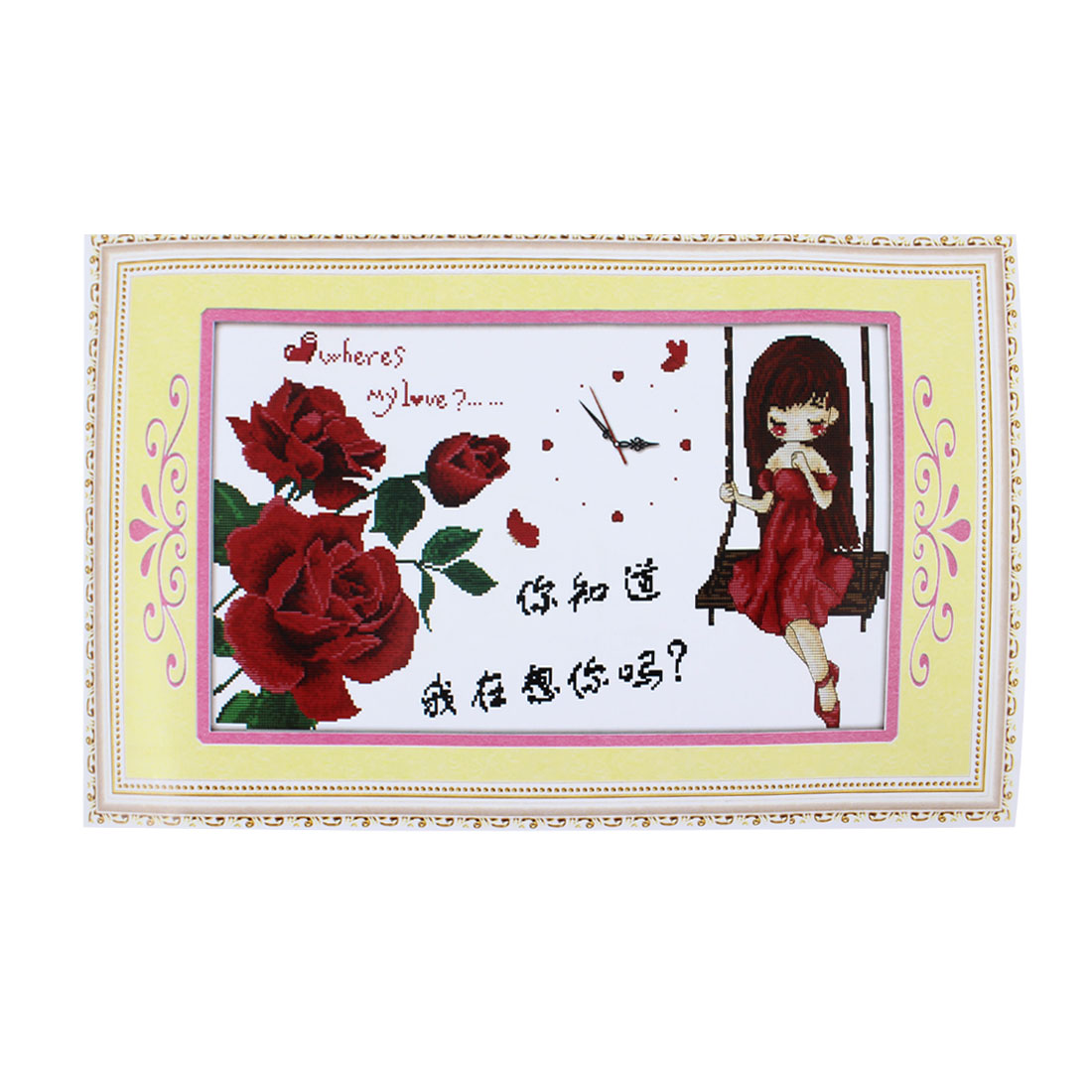 Girl Flower Letter Printed Stamped Cross Stitch Counted Gift Handmade