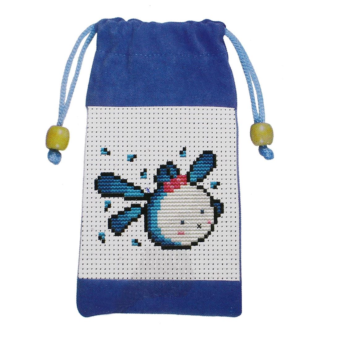 Rabbit Printed Cross Stitch Counted Kit Cell Phone Bag Holder