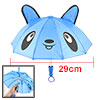 Bear Head Print Nylon Cap Mini Rain Umbrella Toy Blue