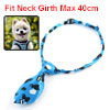 Adjusting Cat Heart Print Dog Doggie Puppy Collar Bowtie Bow Ties Black Blue