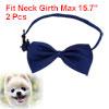 Adjustable Dog Doggie Puppy Collar Bowtie Bow Ties Accessories Royal Blue 2pcs