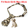 Leopard Pattern Black Beige Adjustable Pet Puppy Grooming Necktie Bowtie