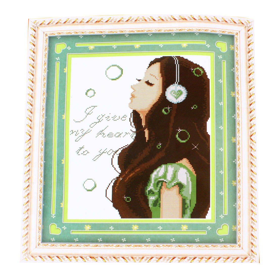 Girl Letter Pattern Stamped Handmade Cross Stitch Counted Gift for Lady