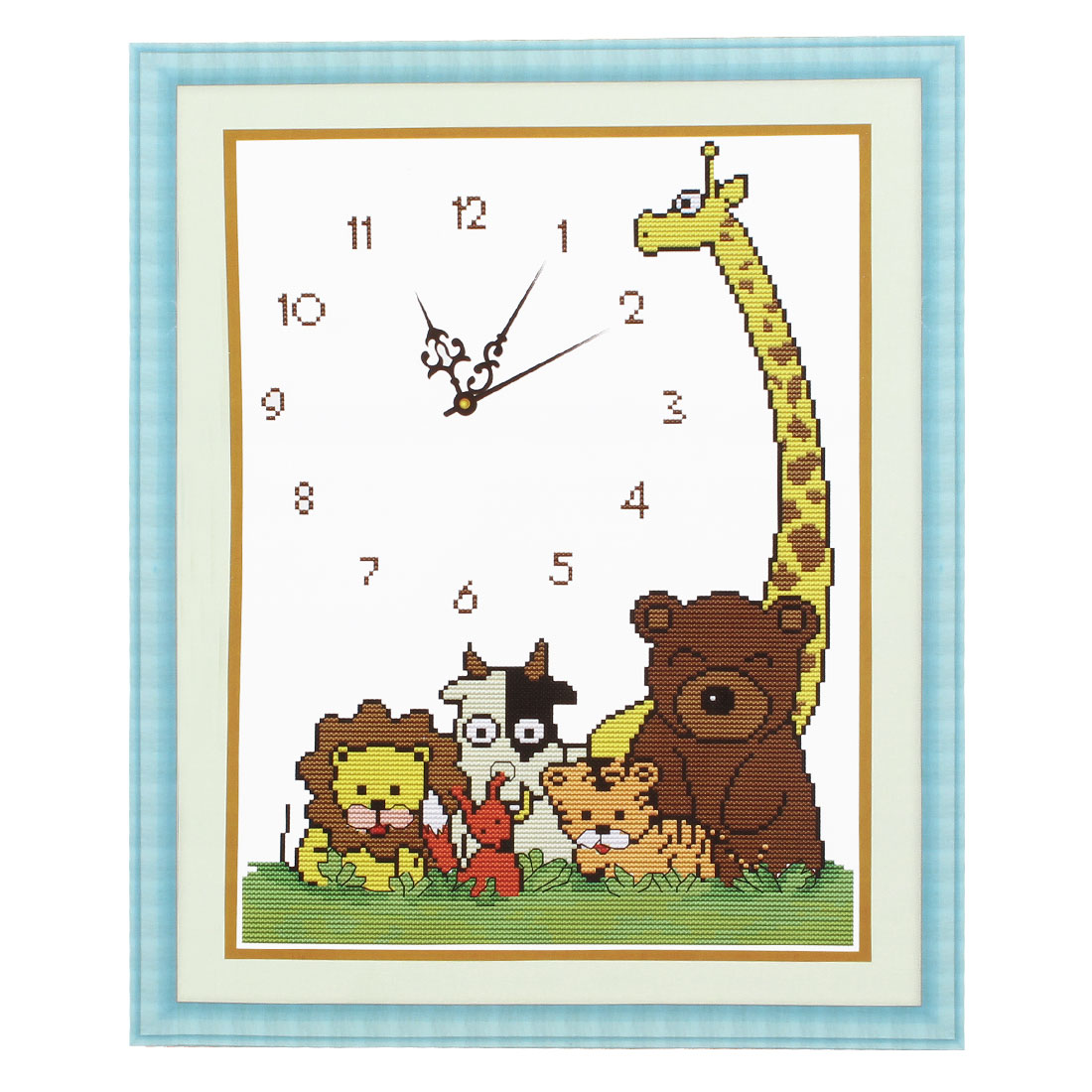 Bear Tiger Printed Stamped Cross Stitch Counted Gift Handmade