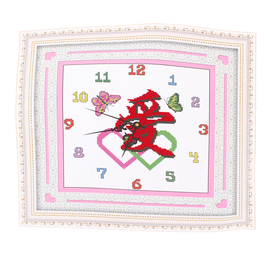 Love Word Butterfly Printed Stamped Cross Stitch Counted Gift Handmade for Lady