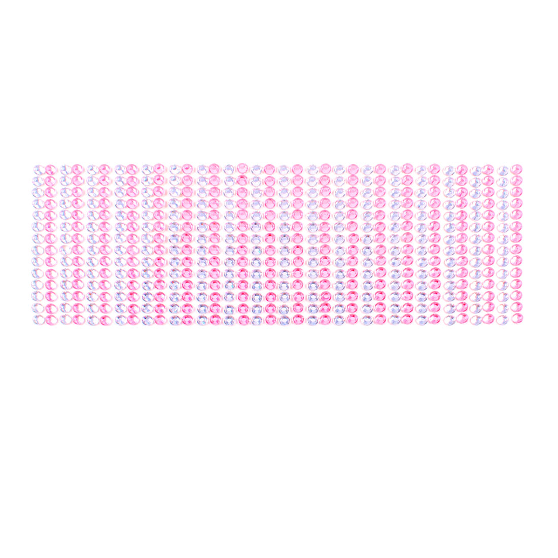 Decorative Pink Clear Glistening Rhinestones Vehicles Car Phone Sticker 38 in 1