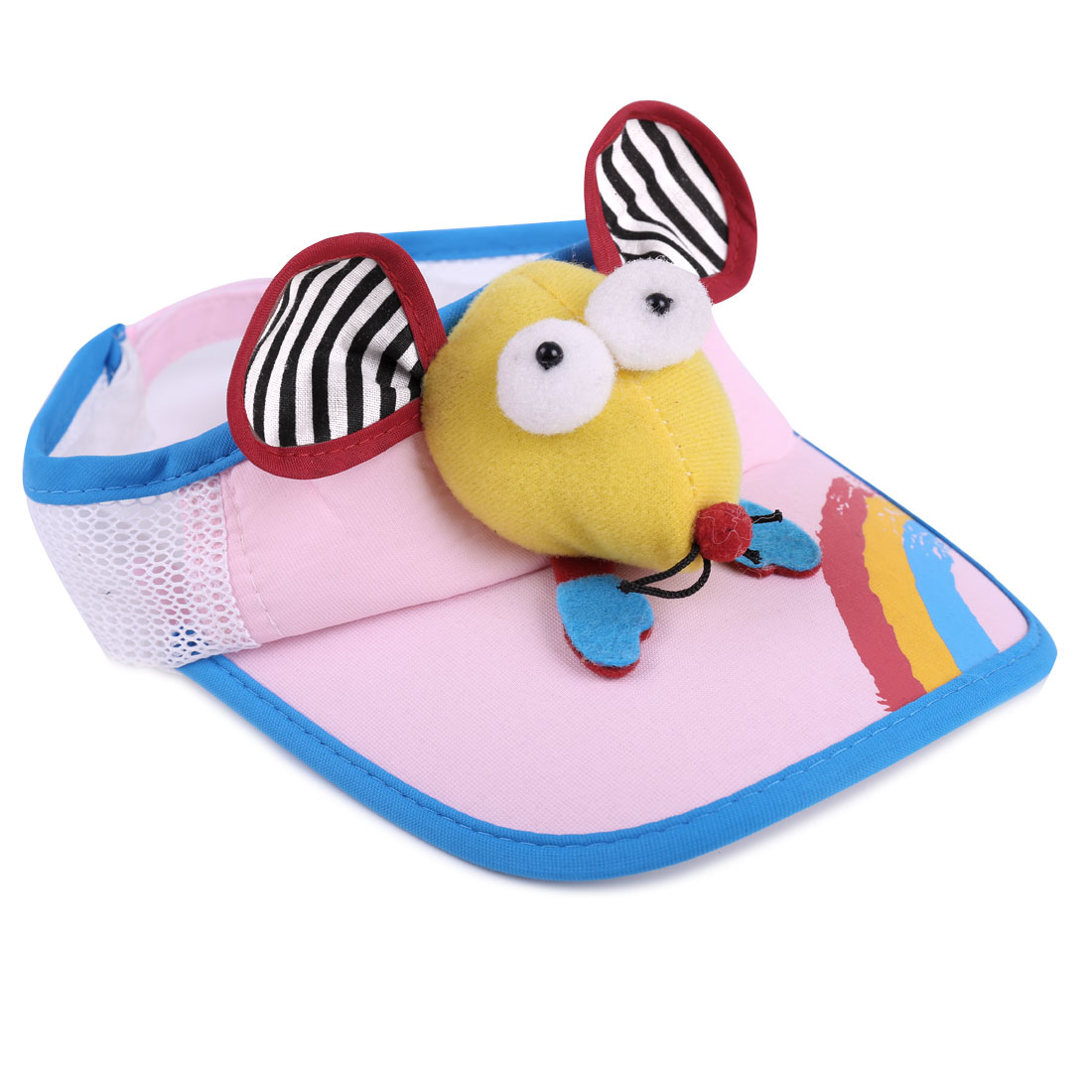 Children New Fashion Adjustable Strap Design Light Pink Visor Hat