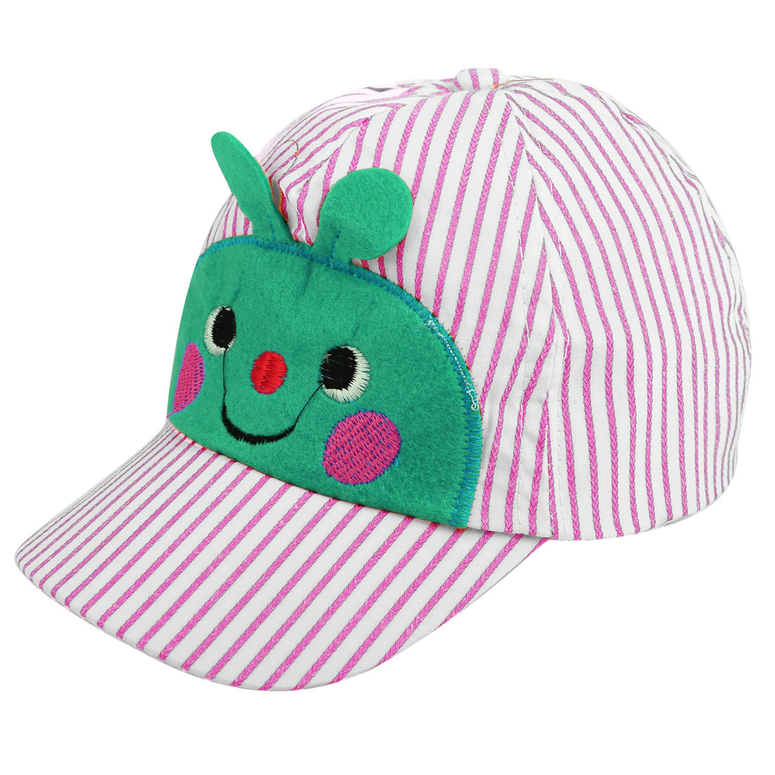 Fashion Kids Cartoon Bee Face Adjustable Baseball Cap Pink White
