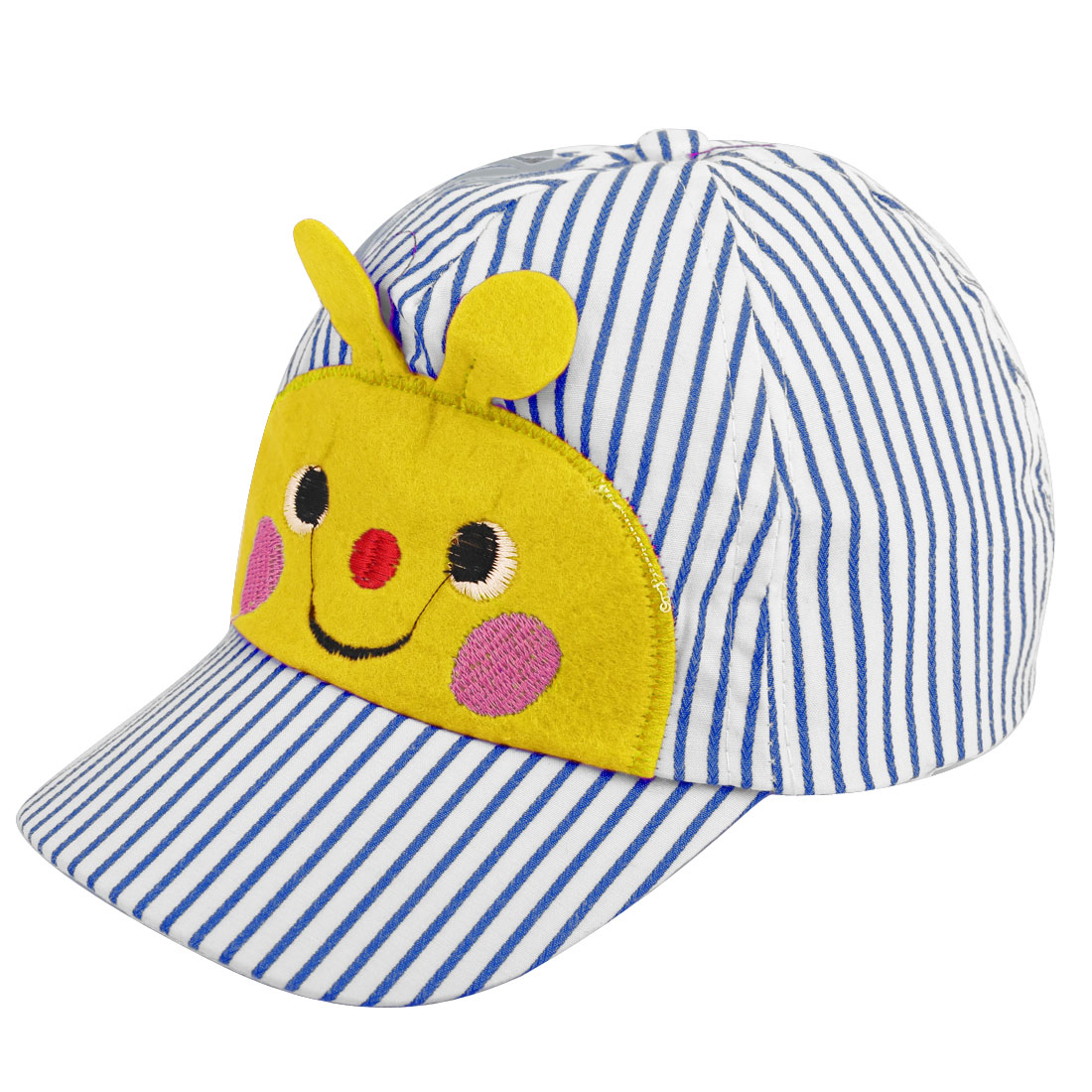 NEWS Smiling Bee Low Crown Baseball Cap for Children Blue White