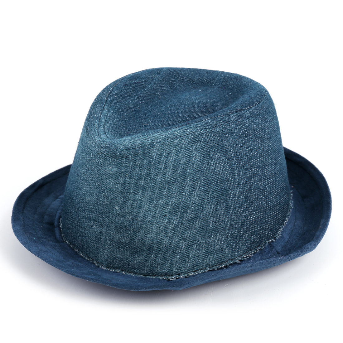Boys Girls Color Blocking Western Classic Cowboy Hat Navy Blue