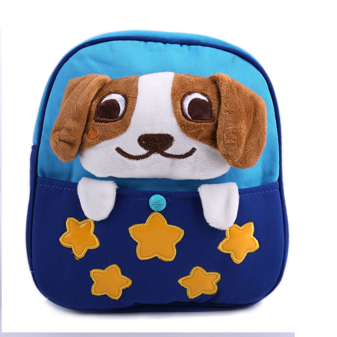 Kids Zip Closure Adjustable Straps Cartoon Dog Backpacks Multicolor