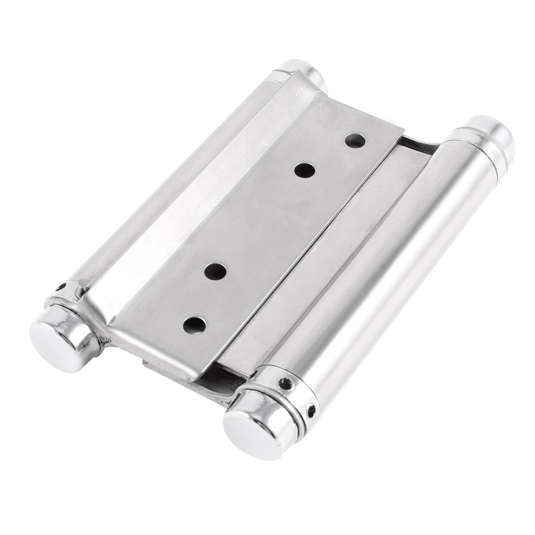 Silver Tone Dual Spring Loaded Stainless Steel Cabinets Drawer Door Butt Hinge