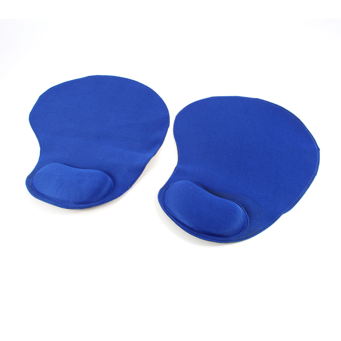 Household PC Laptop Blue Mouse Pad Wrist Rest Support 2 Pcs