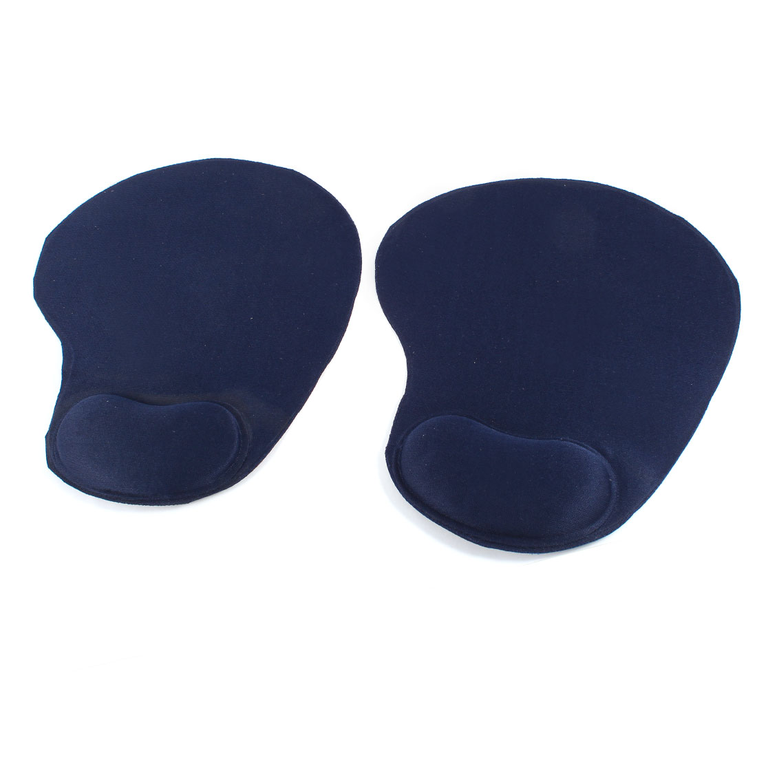 2 Pcs Notebook PC Nylon Rubber Heart Mouse Pad Wrist Rest Support Dark Blue