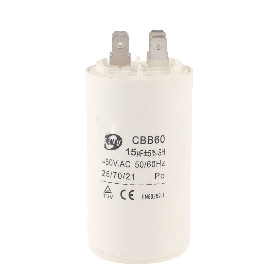 CBB60 15uF 450VAC Polypropylene Film Air Conditioning Motor Run Capacitor