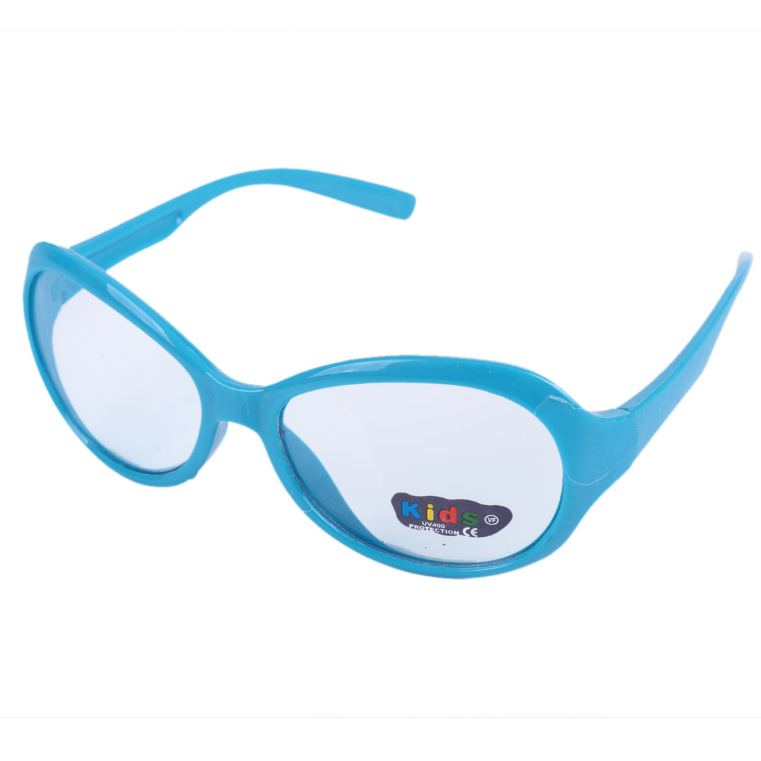 Blue Plastic Full Frame Single Bridge Sunglasses for Children