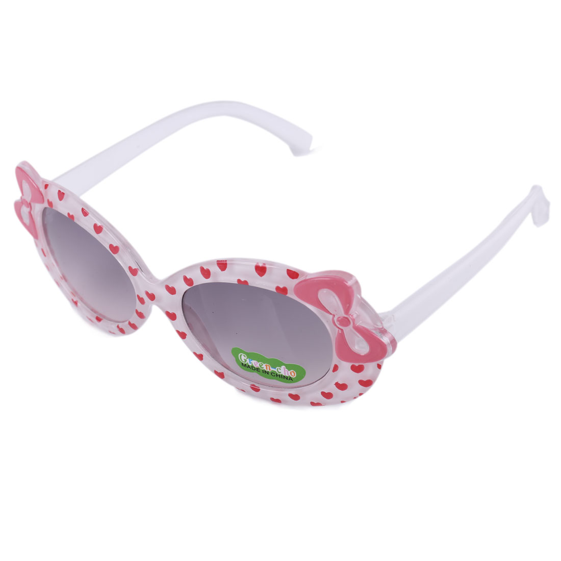 Girls Chic Bowknot Decor Plastic Lovely Sunglasses White