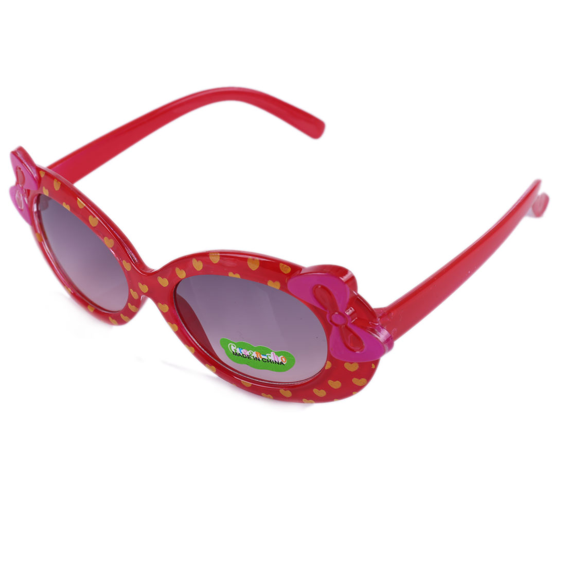 NEWS Girls Heart Pattern Classic Sunglasses Dark Red