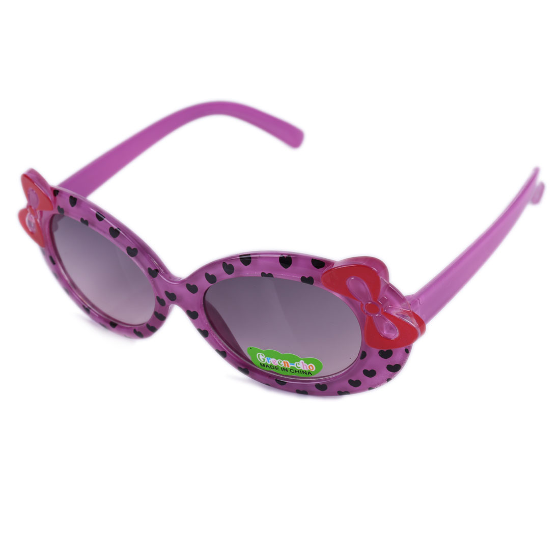 Girls Heart Stylish Lovely Plastic Sunglasses Purple
