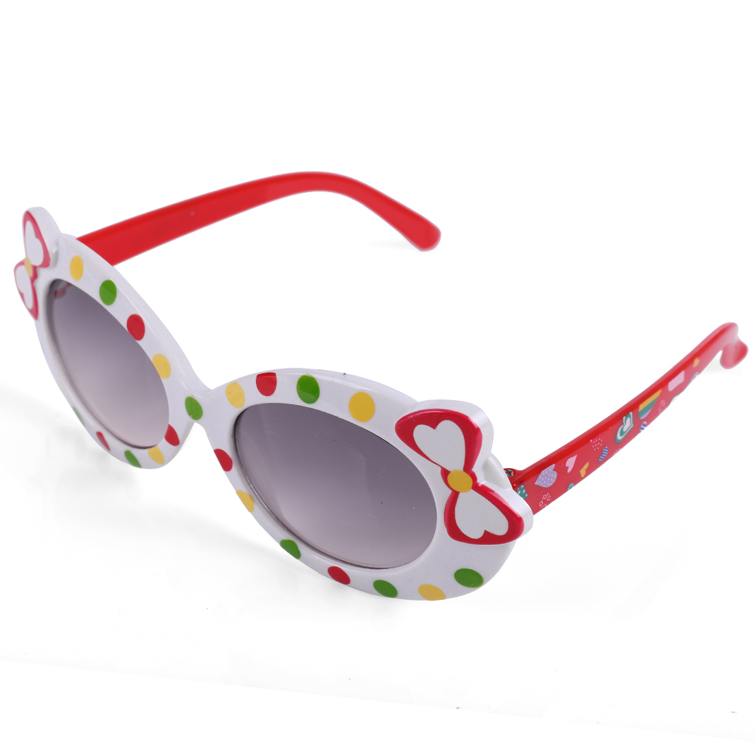Girls Sweet Bowknot Color Block Sunglasses White Red