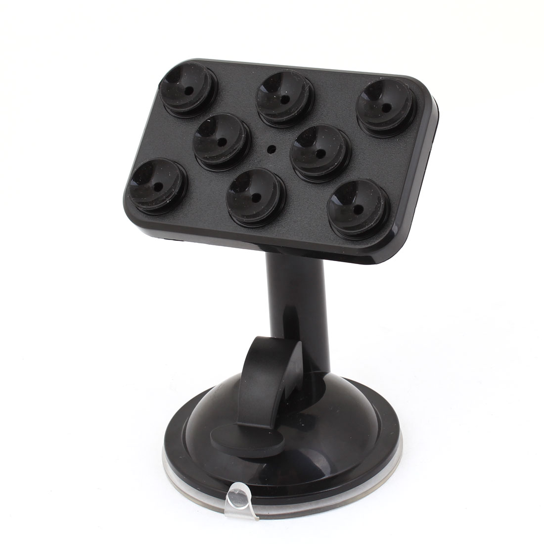 Black Plastic Adjustable Angle Dashboard Mount Phone Bracket for Car