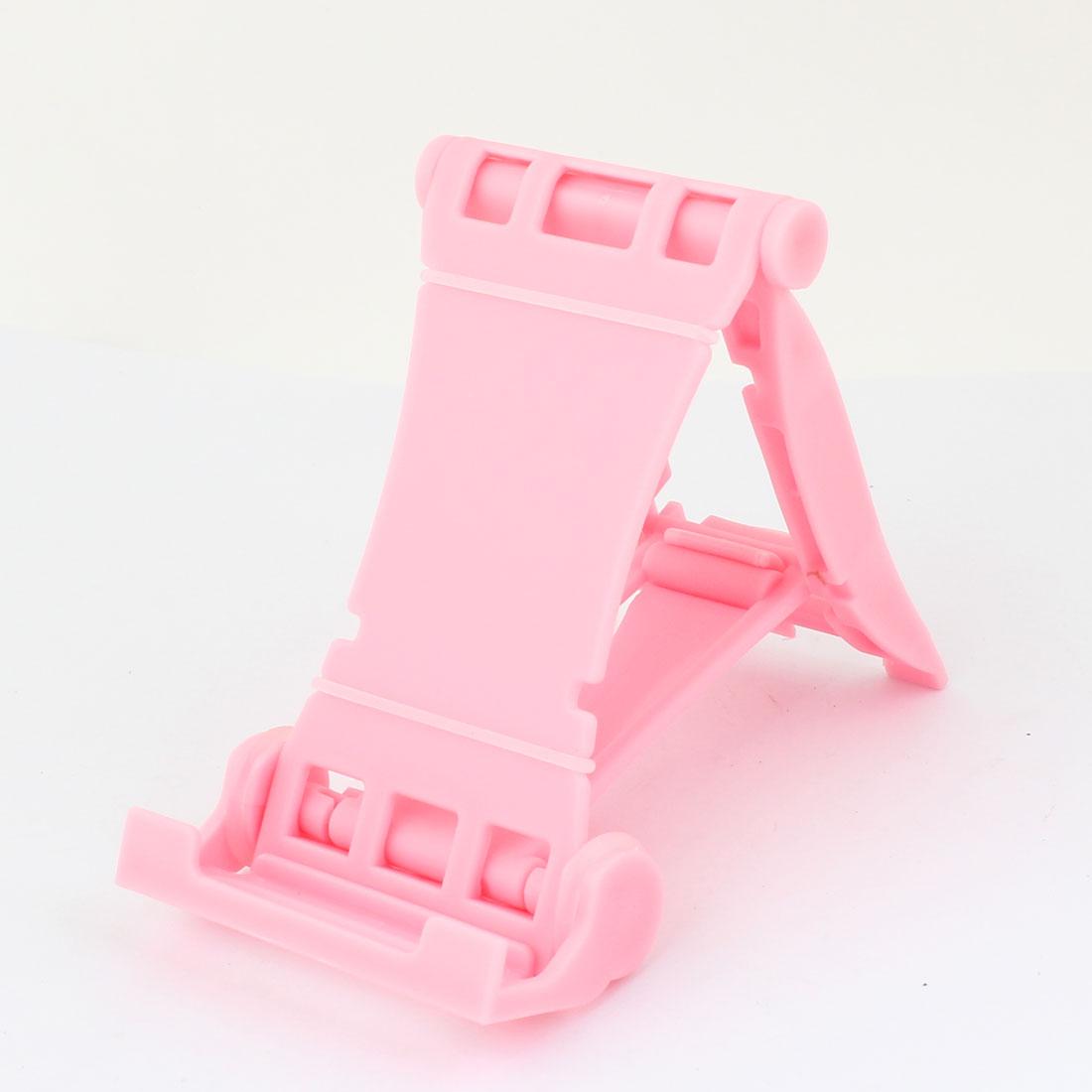 Vehicle Car Pink Plastic Adjustable Phone iPad Stand Holder Cradle