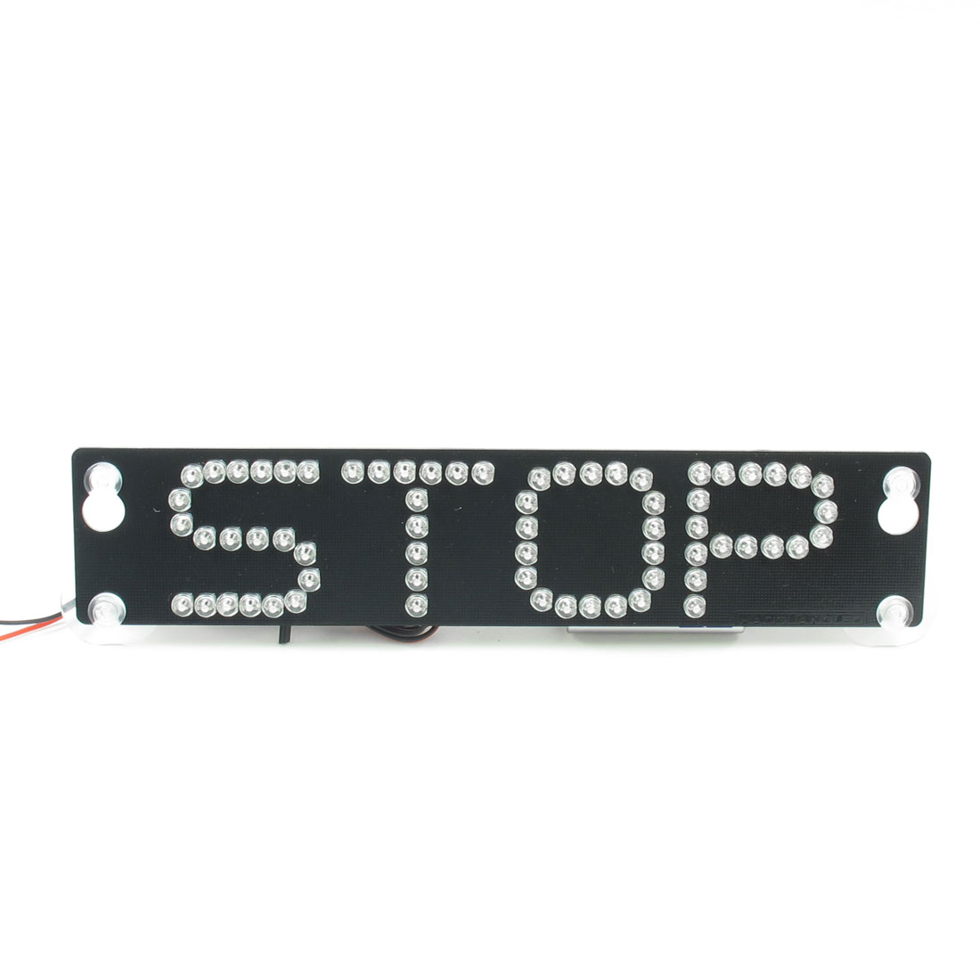 Auto Vehicle Car Warning Stop Sign White 66 LED Flash Light Black w Four Suction Cup