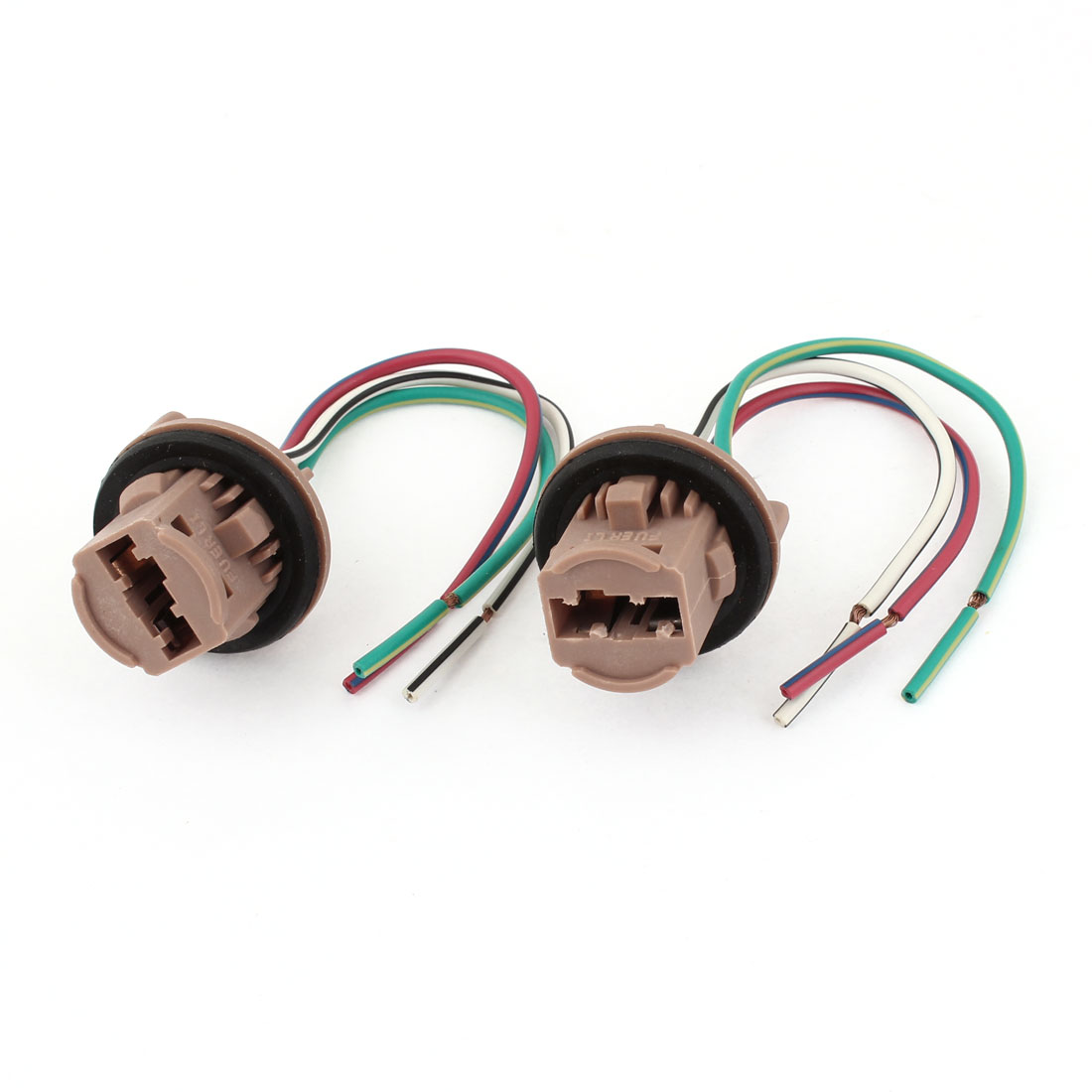 2pcs Car T20 Turn Signal Light Bulb Socket Water Resist w Wires