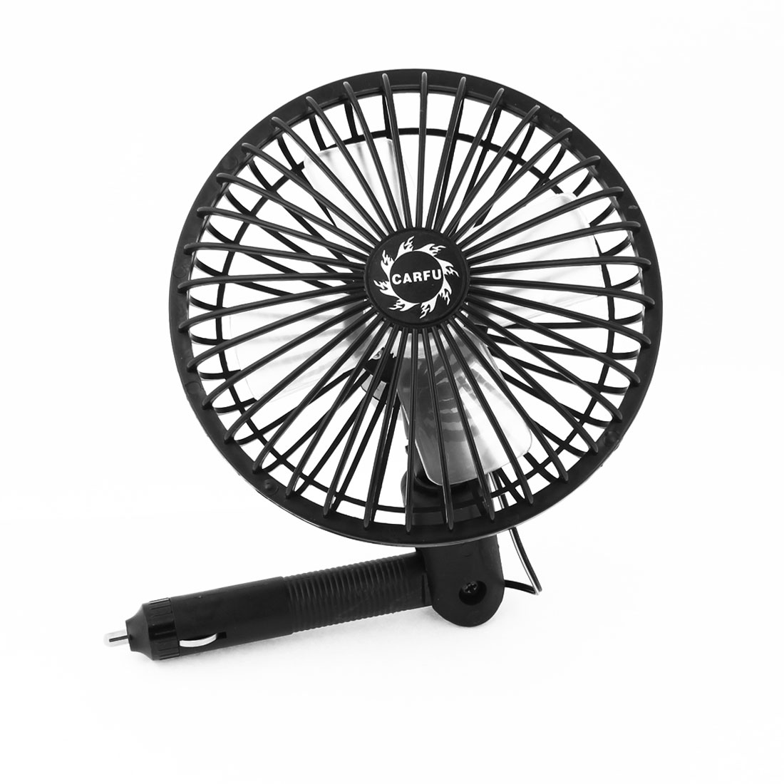 DC 12V Black Powered 2 Speed Sunmmer Protable Cooling Air Fan for Car