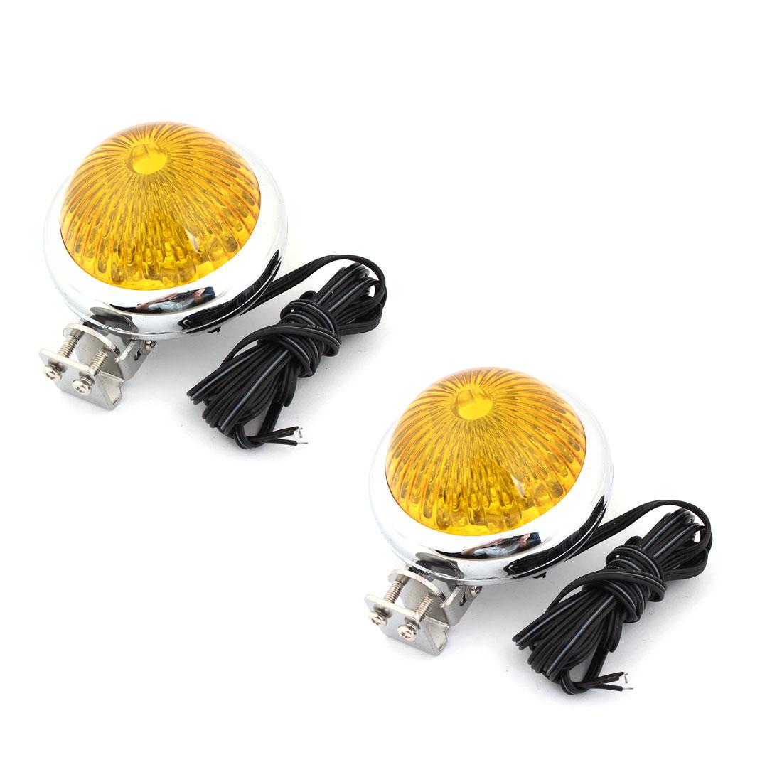 Universal Car Decor Yellow LED Pilot Tail Signal Light 2 Pcs