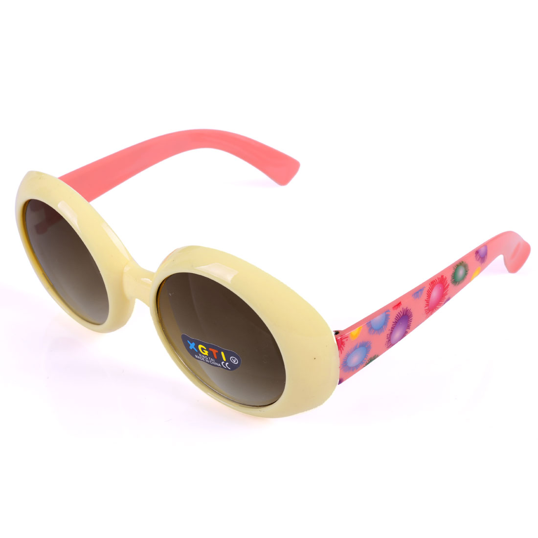 Children Plastic Maize Color Full Frame Single Bridge Sunglassess