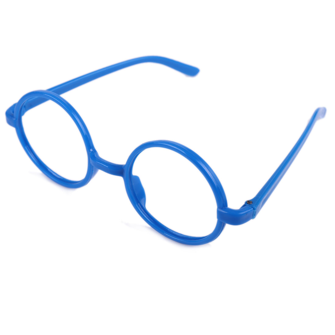 2 Pcs Children Kids Plastic Round Full Rim Eyeglasses Frame Blue