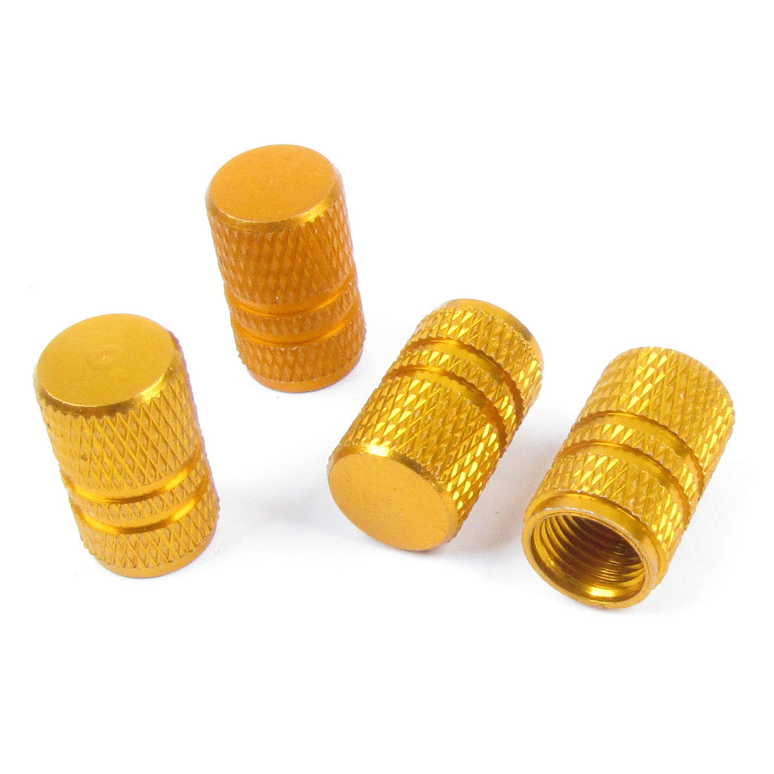 Replacement Alloy Car Auto Orange Tyre Tire Valve Covers 4 Pcs