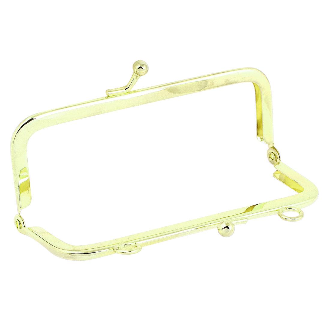 11.5cm Long Gold Tone Metal Arch Shape Kiss Lock Frame for Handbag Purse Wallet