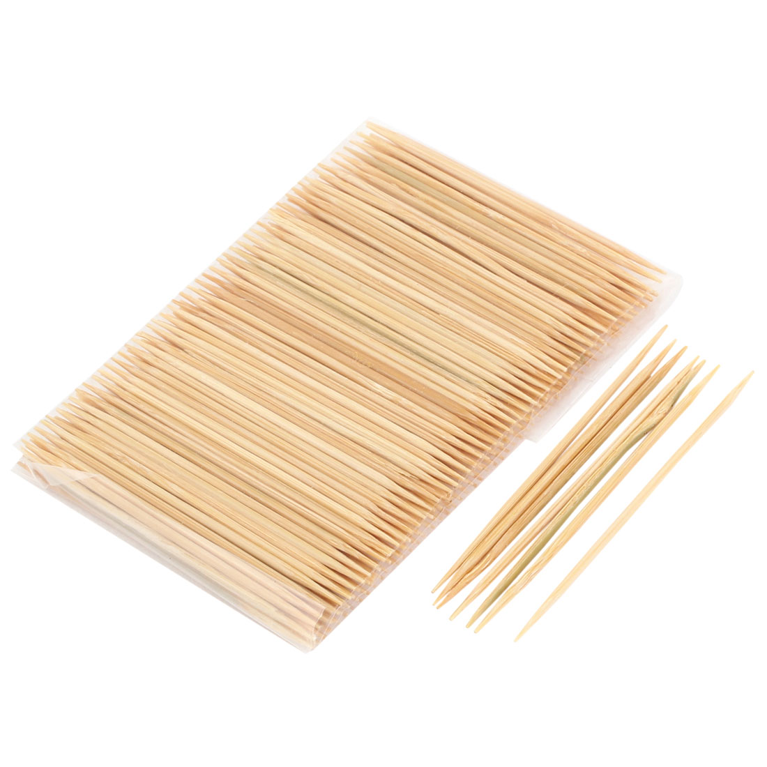 200 Pcs Home Restaurant Double Head Bamboo Toothpicks 6.4cm Long