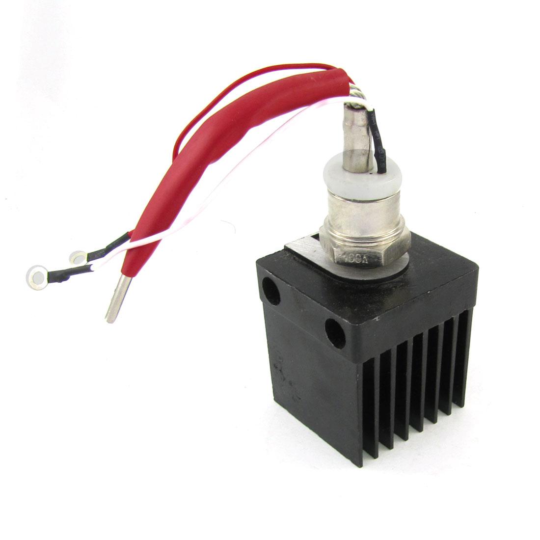 KP100A 1600V 100A Stud Type Phase Control Thyristor w Black Heatsink