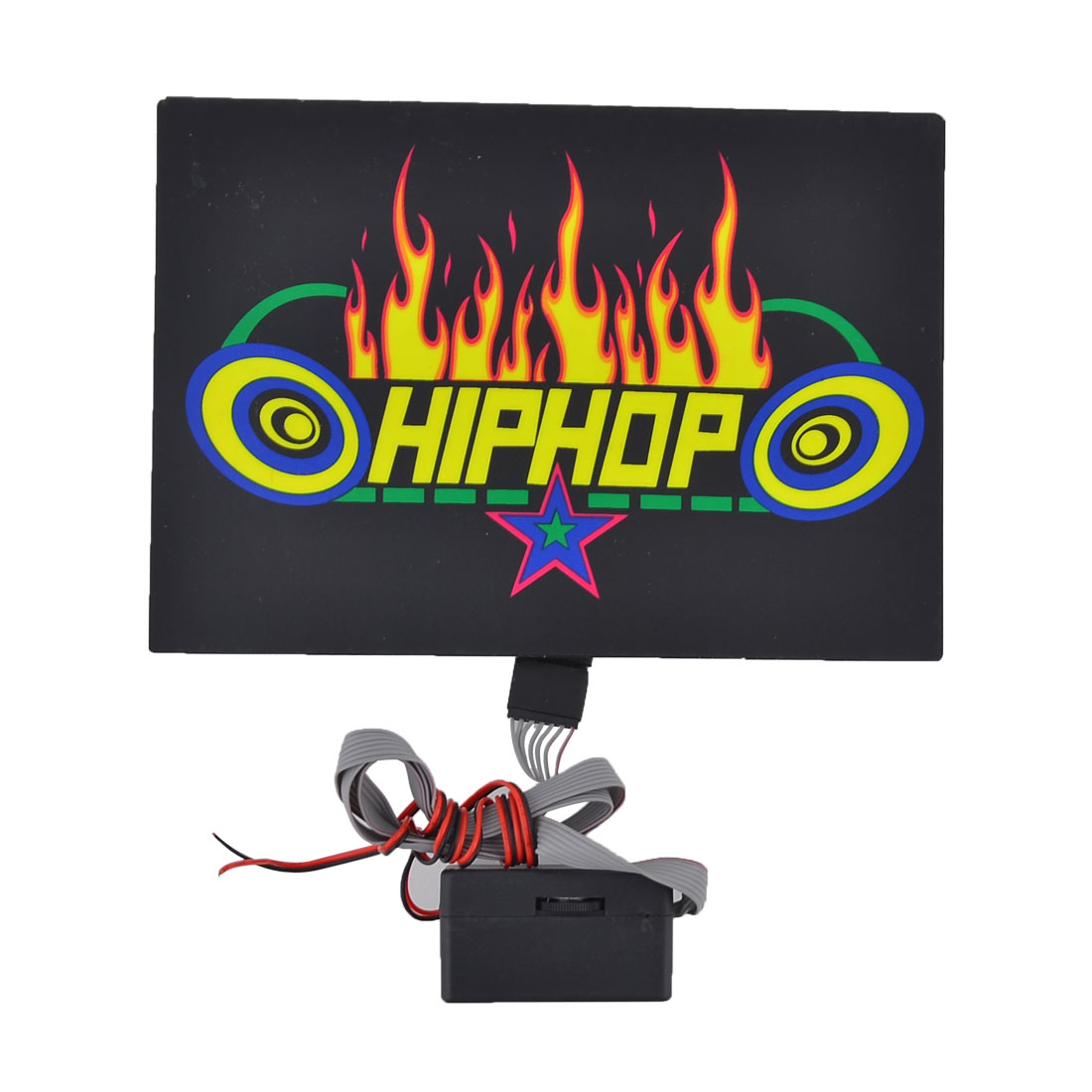 Car Windshield Flame Pattern Music Rhythm Lamp Sound Activated Sticker Equalizer