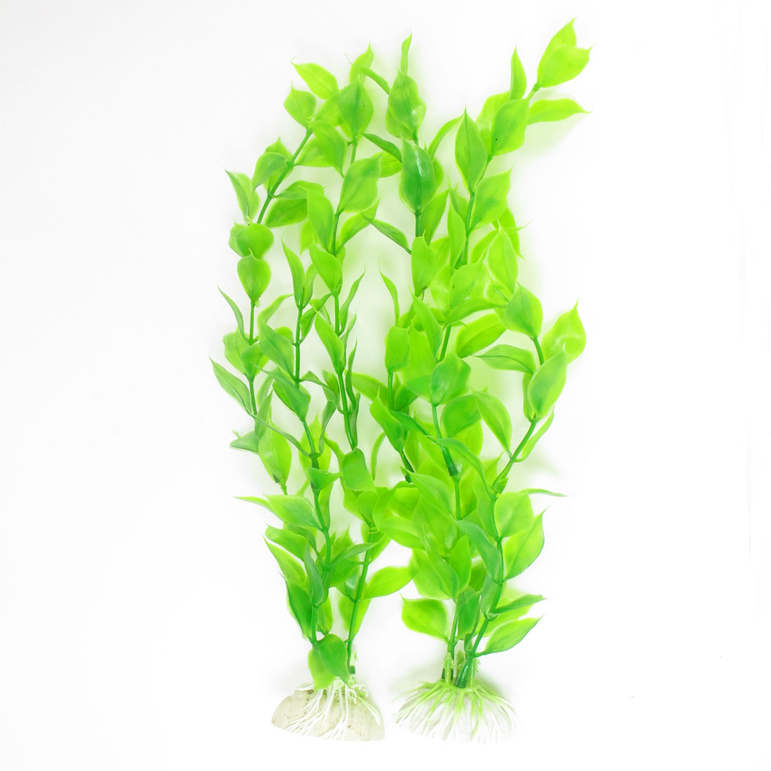 "10.2"" Height Green Artificial Manmade Aquarium Decoration Grass Plant 2PCS"