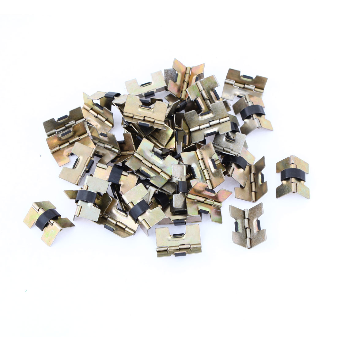 "0.78"" Length Door Window Cabinet Drawer Bronze Tone Metal Butt Hinges 51 Pcs"