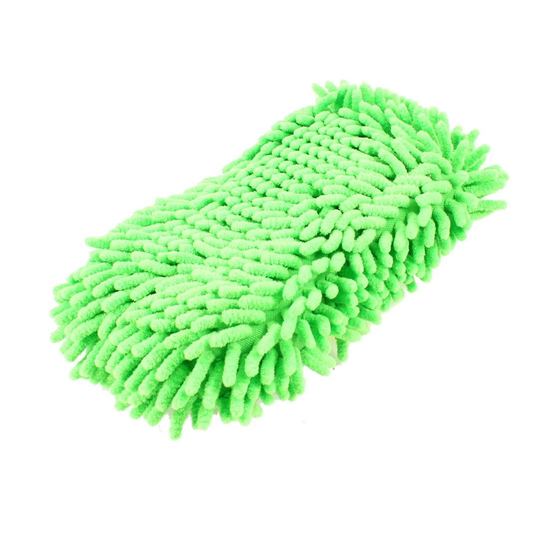 Microfiber Chenille Light Green Car Washing Sponge Pad Cleaning Tool