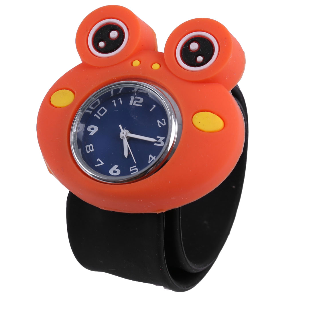 Cute Frog Adjustable Strap Wrist Watch for Children Blue Black