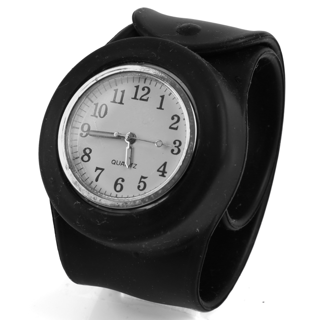 Children New Fashion Black Wide Adjustable in Any Size Band Design Watch